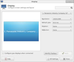 RandR - Image: Xfce settings displays