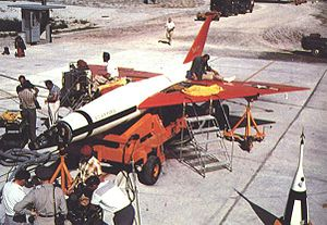 XSM-73 Goose -  XSM-73 being prepared for flight.