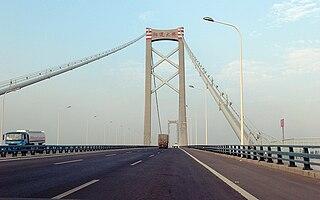 Yangluo Yangtze River Bridge suspension bridge