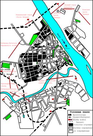 Карта белогвардейского