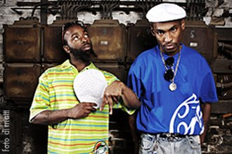Ying Yang Twins - Kaine and D-Roc before their concert in Berlin in May 2007