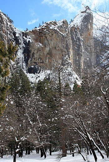 English: Yosemite Valley in winter