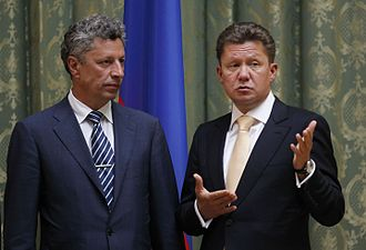 Gazprom - Gazprom CEO Alexei Miller with the Energy Minister of Ukraine Yuriy Boyko, June 2012
