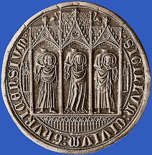 Staatsarchiv Zürich - seal stamp of 1347