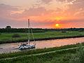 Zeilbootje in het kanaal tussen de Headammen en de Krusdobbe.jpg
