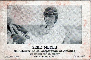 English: Zeke Meyer Studebaker Business Card.