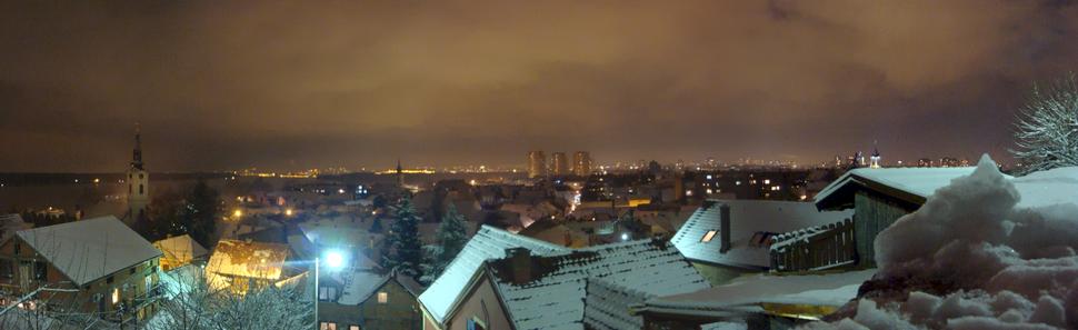 Zemun nocna panorama