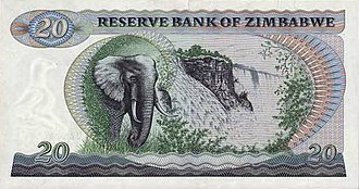 Fidelity Printers and Refinery - Reserve Bank of Zimbabwe 1980 $20 note