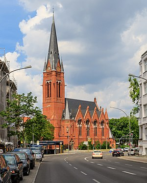 Friedenau - Good Shepherd Church on Friedrich-Wilhelm-Platz