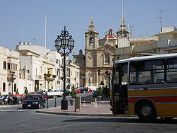 Main square of Żurrieq