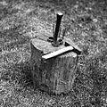 """""""Klepaje"""" (babca, kladu, podstauk, p?ncl) - pri Brlogarju, Male Lašče 1960.jpg"""