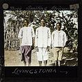 """Three Smiling Africans, Livingstonia"", Malawi, ca.1910 (imp-cswc-GB-237-CSWC47-LS4-1-055).jpg"