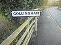 'Collingham' sign approaching from Linton, Linton Road, Collingham, West Yorkshire (28th December 2018).jpg