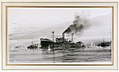 "'Gallipoli- ""River Clyde"" Pushing in for V Beach', in the Dardanelles, 1915 RMG PW2078.jpg"