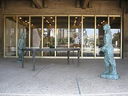 'Table of Peace', bronze sculpture by Sandro Chia (Italian), 2003, Tel Aviv Museum of Art, Tel Aviv, Israel.jpg