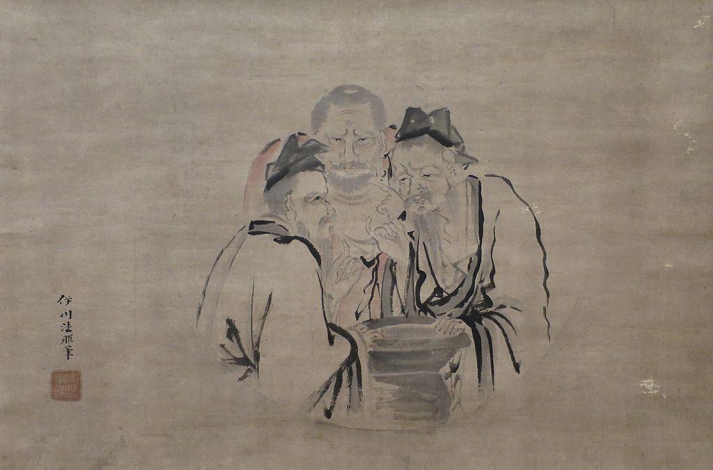 'The Three Vinegar Tasters' by Kano Isen'in, c. 1802-1816, Honolulu Museum of Art, 6156.1