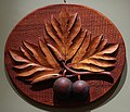 'Ulu (Breadfruit)', carved wooden plaque by Frank Nicholas Otremba (1851-1910), Bernice P. Bishop Museum.JPG