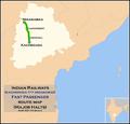 (Kacheguda - Nizamabad) Passenger route map.png