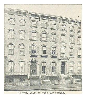 Harvard Club of New York - Image: (King 1893NYC) pg 562 HARVARD CLUB, 11 WEST 22D STREET