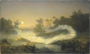 Dökkálfar and Ljósálfar - Elfplay (1866) by August Malmström