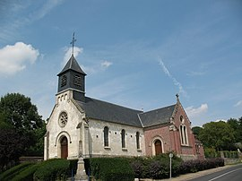 The church in Beaucourt-sur-l'Hallue