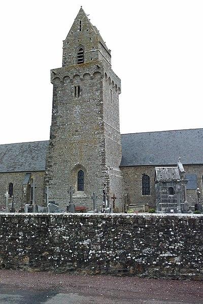 église de fr:Saint-Nicolas-de-Pierrepont Clocher fortifié du XIVe