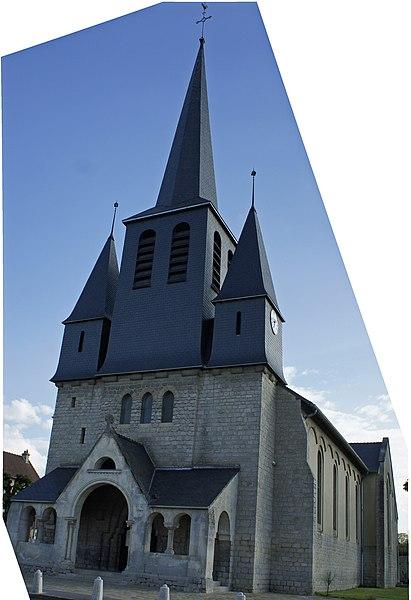L'église à Loivre.