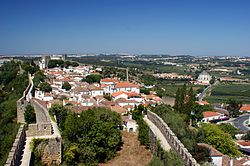 The vila/town of Óbidos, within the walls of the Óbidos Castle