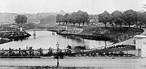 Ørstedsparken - Ørsted Park in 1880
