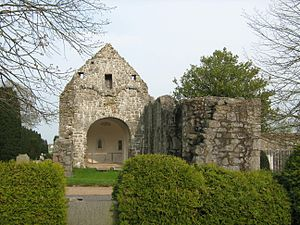 Østermarie - The old church now a ruin