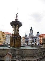 České Budějovice Samsonova Kašna - Czech Budejovice Samson Fountain - panoramio.jpg