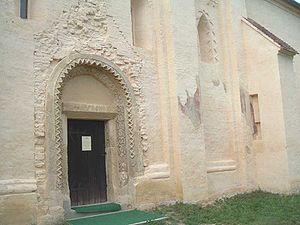 Őriszentpéter - The doorway of the parochial church.