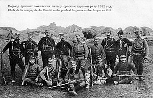 Chetniks - Vojvoda Vuk with his commanders, 1912.