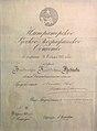 Диплом Действительного члена Императорского Русского Географического общества, выданный В. К. Арсеньеву.jpg