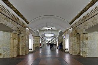 Kurskaya (Koltsevaya line) - Image: Курская кольцевая 07