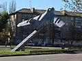 МіГ-17 Воїнам-авіаторам Нікополь 01.JPG