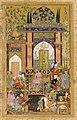Фаррух Бек Бабур принимает придворных. Бабурнаме. 1589. Гал. Саклера, Вашингтон.jpg
