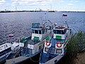 Якутск. Два катера у городской дамбы.jpg