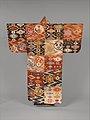 "唐花雲板模様段替厚板-Noh Robe (Atsuita) with Cloud-Shaped Gongs and ""Chinese Flowers"" MET DP330769.jpg"