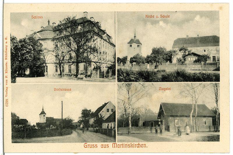 File:06758-Martinskirchen-1905-Schloß, Kirche, Schule, Ziegelei, Dorfstraße-Brück & Sohn Kunstverlag.jpg