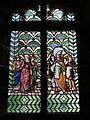 081 Castell de Santa Florentina (Canet de Mar), sala de la terrassa, vitrall egipci.JPG