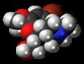 1-Bromocodeine molecule spacefill.png