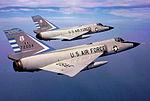 101st Fighter-Interceptor Squadron Two F-106 Delta Daggers in Formation.jpg