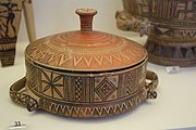 1037 - Keramikos Museum, Athens - Pyxis, 8th century BC - Photo by Giovanni Dall'Orto, Nov 12 2009.jpg