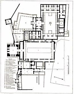 Plan of the Palacio Arabe 1889