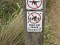 12 Apostles - 'Stay On Track' sign.jpg