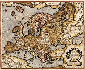 Brasil (mythical island) - Image: 1595 Europa Mercator