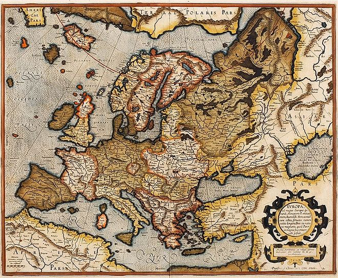 An updated version of the 1554 map of Europe as it appears in the 1595 atlas 1595 Europa Mercator.jpg