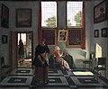 1668 Elinga Interieur mit lesender Dame und kehrender Magd anagoria.JPG