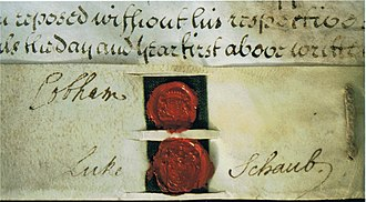 Richard Temple, 1st Viscount Cobham - Temple's signature and seal on a marriage settlement of 1734